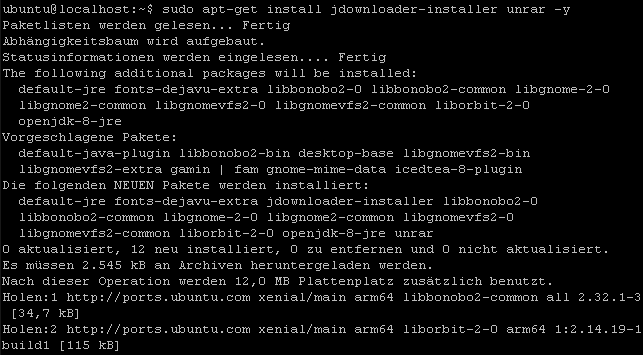 pine64_jdownloader_install