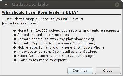 pine64_jdownloader_update_problem