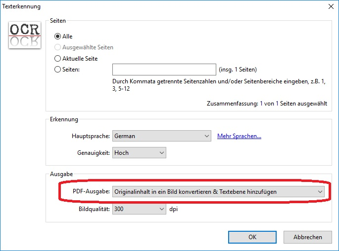 PDF-XChangeViewer_Option_Texterkennung