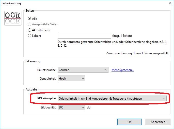 PDF-XChangeViewer_Option_Texterkennung